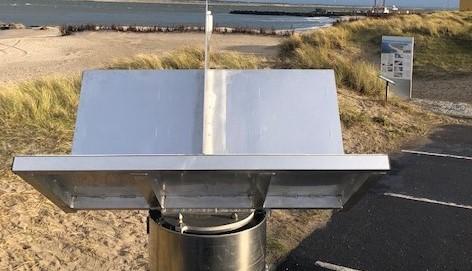 Radarreflektor. Registrering af landbevægelser. Anvendes blandt andet til tilstandsbaseret klimatilpasning